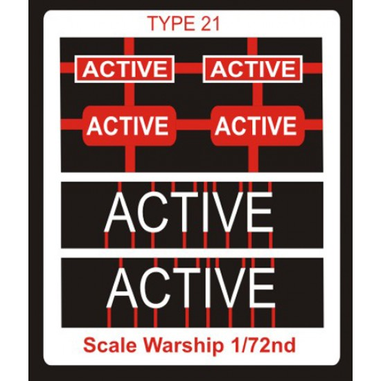 Type 21 Class Name Plate  72nd- Active