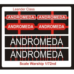 Leander Class Name Plate  72nd- Andromeda