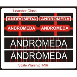 Leander Class Name Plate  96th- Andromeda