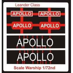 Leander Class Name Plate  72nd- Apollo