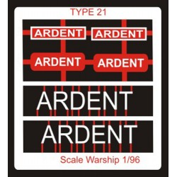 Type 21 Class Name Plate  96th- Ardent