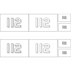 Pennant Numbers Stencils