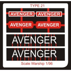 Type 21 Class Name Plate  96th- Avenger