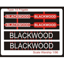Type 14 Frigate Name Plate  96th- Blackwood