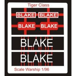 Tiger Class Name Plate  96th- Blake