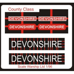 County Class Name Plate  96th- Devonshire