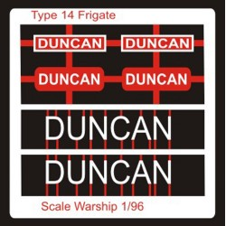 Type 14 Frigate Name Plate  96th- Duncan