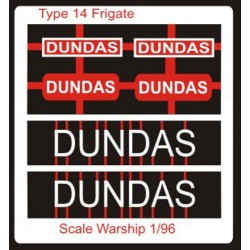 Type 14 Frigate Name Plate  96th- Dundas