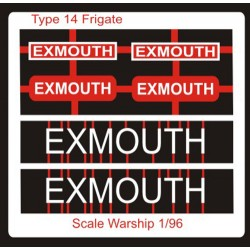 Type 14 Frigate Name Plate  96th- Exmouth