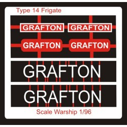 Type 14 Frigate Name Plate  96th- Grafton