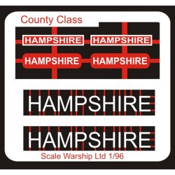 County Class Name Plate  96th- Hampshire
