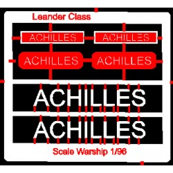 Leander Class Name Plate  96th- Achilles
