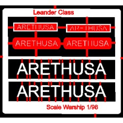 Leander Class Name Plate  96th- Arethusa