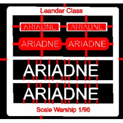 Leander Class Name Plate  96th- Ariadne