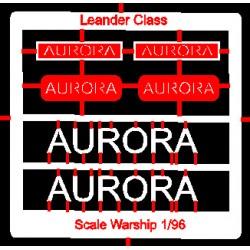 Leander Class Name Plate  96th- Aurora