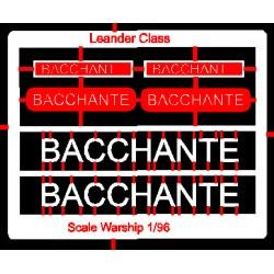 Leander Class Name Plate  96th- Bacchante