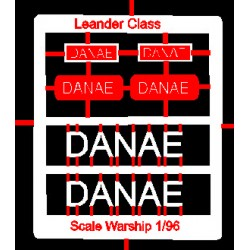 Leander Class Name Plate  96th- Danae