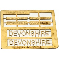 County Class Name Plate  72nd- Devonshire