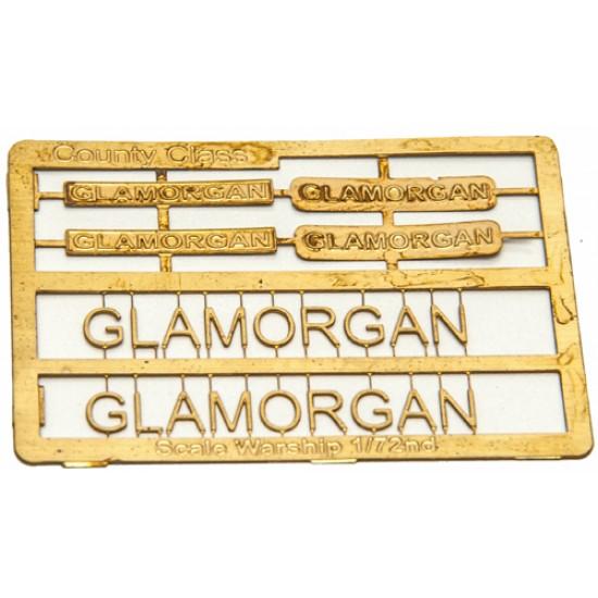 County Class Name Plate  72nd- Glamorgan