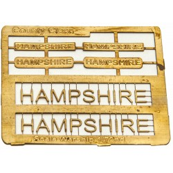 County Class Name Plate  72nd- Hampshire