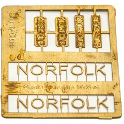 County Class Name Plate  72nd- Norfolk