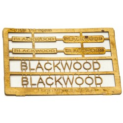 Type 14 Frigate Name Plate  72nd- Blackwood