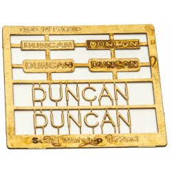 Type 14 Frigate Name Plate  72nd- Duncan