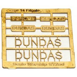 Type 14 Frigate Name Plate  72nd- Dundas