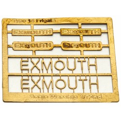 Type 14 Frigate Name Plate  72nd- Exmouth