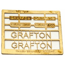 Type 14 Frigate Name Plate  72nd- Grafton