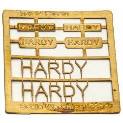 Type 14 Frigate Name Plate  72nd- Hardy
