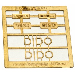 Leander Class Name Plate  72nd- Dido