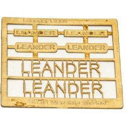 Leander Class Name Plate  72nd- Leander