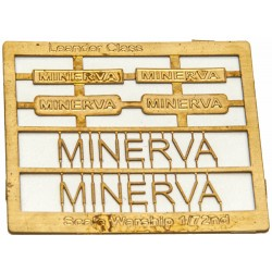 Leander Class Name Plate  72nd- Minerva