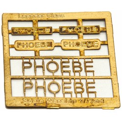 Leander Class Name Plate  72nd- Phoebe