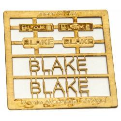 Tiger Class Name Plate  72nd- Blake