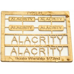 Type 21 Class Name Plate  72nd- Alacrity