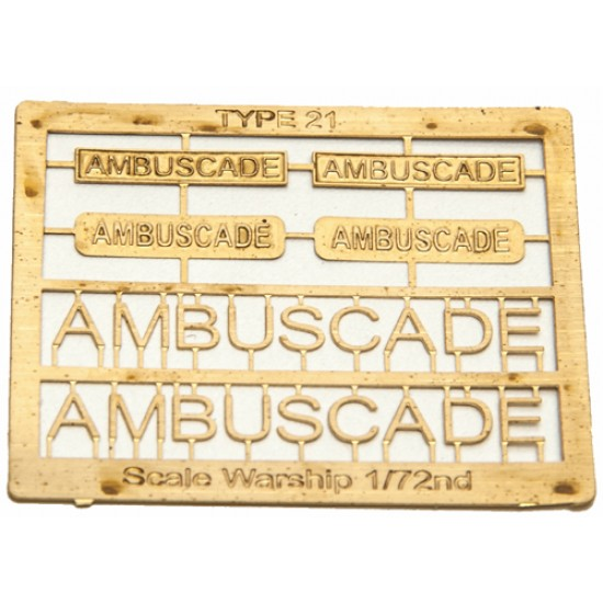 Type 21 Class Name Plate  72nd- Ambuscade