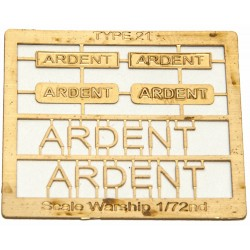 Type 21 Class Name Plate  72nd- Ardent