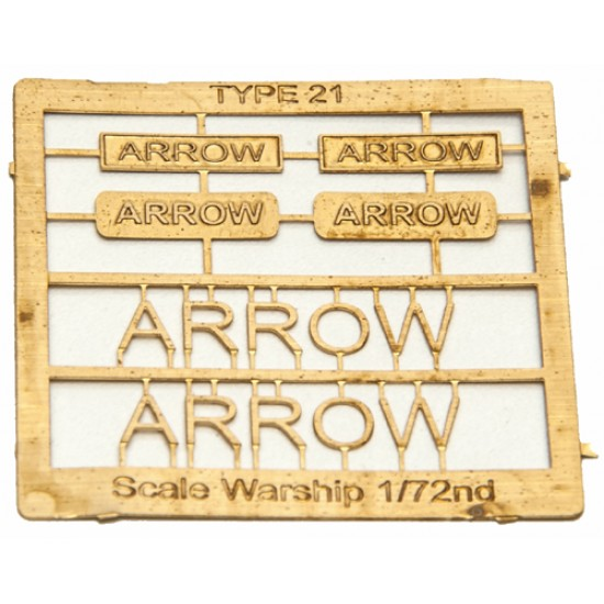 Type 21 Class Name Plate  72nd- Arrow