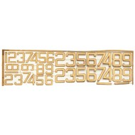 Funnel Numbers in etched brass 72