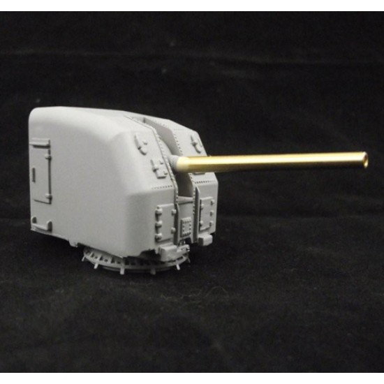5 inch US Gun Mount 3 Slope 72nd Scale