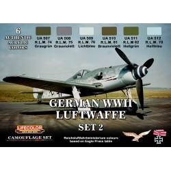 LifeColor German WWII Luftwaffe Set 2(22ml x 6)