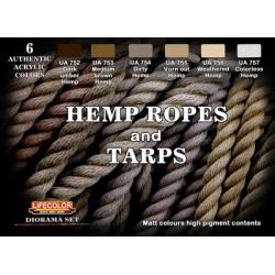 LifeColor Hemp Ropes and Tarps set (22ml x 6)