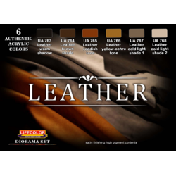 LifeColor Leather Set (22ml x 6)