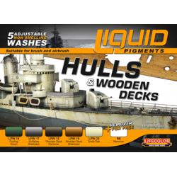 LifeColor Hull & Wooden Decks Liquid pigments Set (22ml x 5)