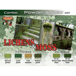 LifeColor Lichens & Moss Powder & Colour Set (22ml x 6)